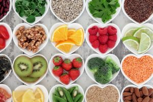 Different kinds of foods with different Nutrition values