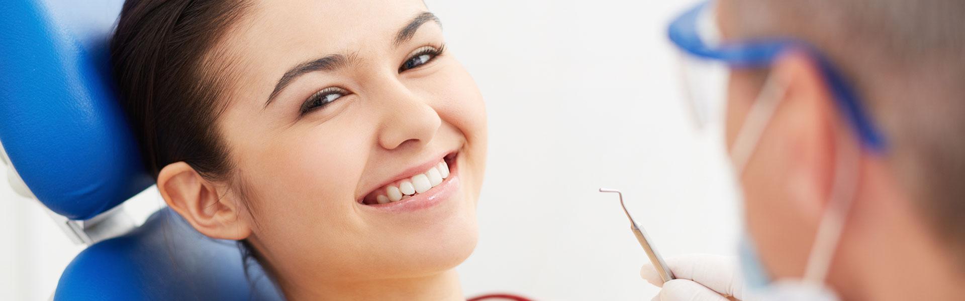 A girl having Dental crowns at Bedford Dentistry