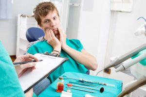 Patient anxious about dental treatment